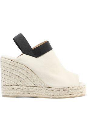 CASTAÑER Brenda cotton-canvas wedge espadrille slingback sandals