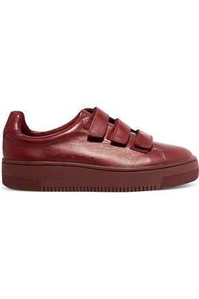 SANDRO Accept leather sneakers