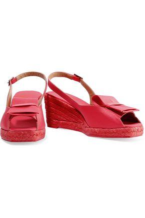 CASTAÑER Dalia satin-crepe espadrille wedge sandals