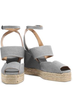 CASTAÑER Delphine canvas wedge sandals