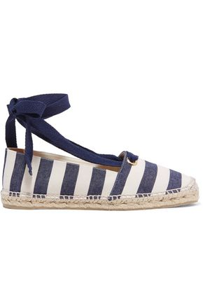 CASTAÑER Striped canvas espadrilles