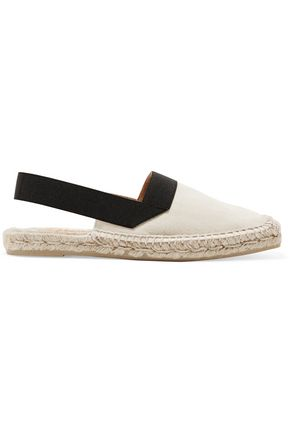 CASTAÑER Two-tone cutout canvas espadrilles