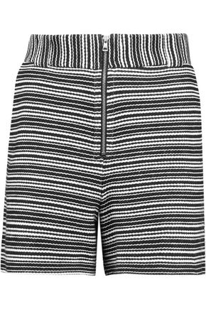 SEE BY CHLOÉ Striped cotton-blend shorts