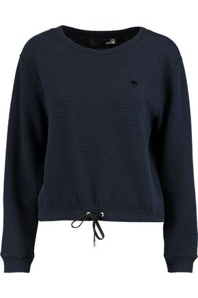 LOVE MOSCHINO Textured cotton-blend sweatshirt