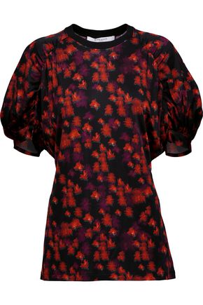GIVENCHY Floral-print satin top