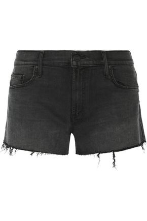MOTHER The Teaser frayed denim shorts