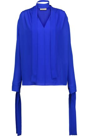 EMILIO PUCCI Pussy-bow silk blouse