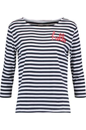 CHINTI AND PARKER Printed striped cotton top