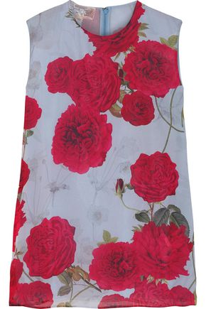 GIAMBATTISTA VALLI Floral-print silk-chiffon top