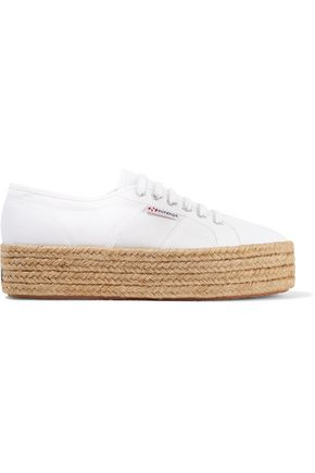 SUPERGA® Canvas platform espadrille sneakers
