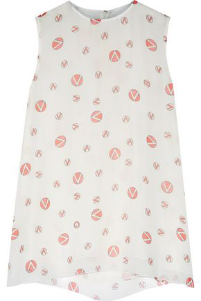 GIAMBATTISTA VALLI Printed silk-georgette top