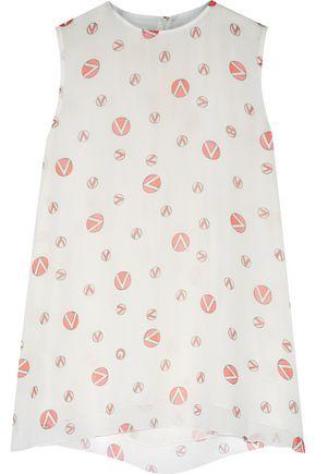 GIAMBATTISTA VALLI Printed silk-georgette top