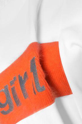 ALEXANDER WANG Paneled cotton-jersey sweatshirt