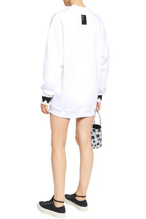 ALEXANDER WANG Paneled cotton-jersey sweatshirt