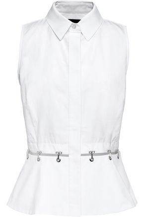 ALEXANDER WANG Embellished cotton top