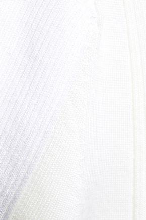 ALEXANDER WANG Paneled merino wool-blend T-shirt
