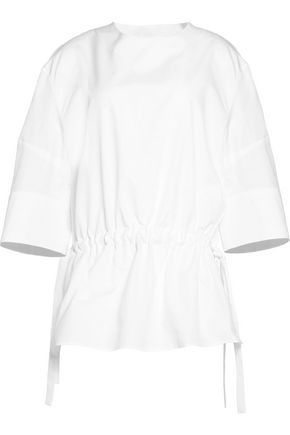 JIL SANDER Calla ruched cotton top