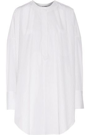 JIL SANDER Oversized pinstriped cotton-poplin shirt
