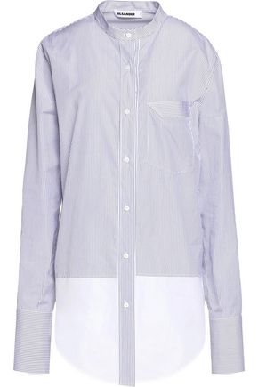 JIL SANDER Carla striped cotton shirt