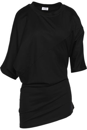JIL SANDER Asymmetric cotton-blend jersey T-shirt