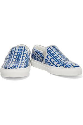 ANYA HINDMARCH Skater Mothercare embossed leather slip-on sneakers