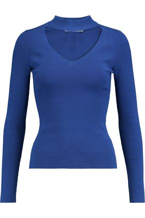 AUTUMN CASHMERE Cutout stretch-knit top