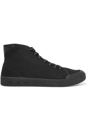 RAG & BONE Standard Issue leather-trimmed canvas high-top sneakers