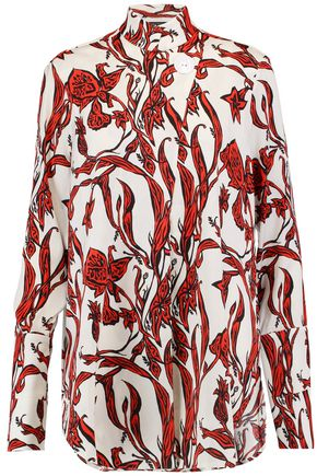 ELLERY Visual Wonder printed silk-blend crepe shirt