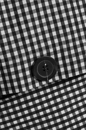 ELLERY Belted gingham cotton shirt
