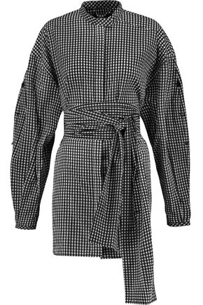 ELLERY Belted gingham cotton shirt