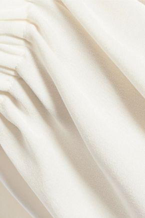 ELLERY Cold-shoulder crepe blouse