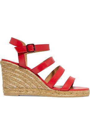 CASTAÑER Bayna leather espadrille wedge sandals