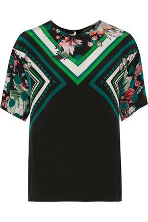 ROBERTO CAVALLI Printed stretch-silk crepe de chine blouse