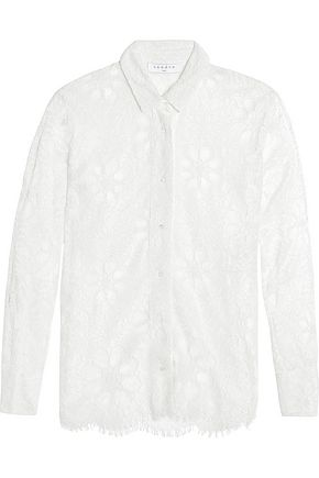 SANDRO Corded lace shirt