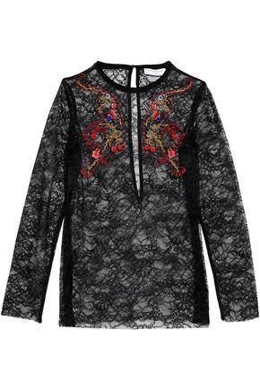 SANDRO Paris Embroidered lace top
