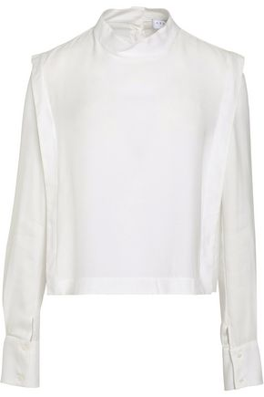 SANDRO Cropped twill shirt