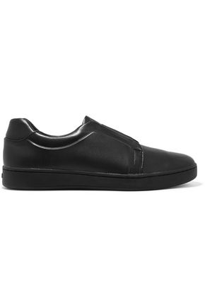 DKNY Bobbi leather slip-on sneakers