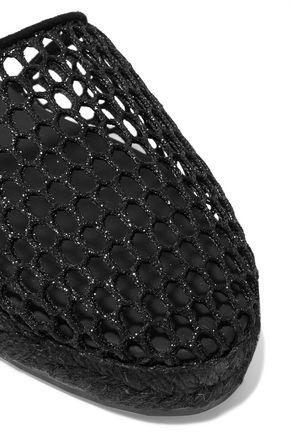 CASTAÑER Kathy metallic mesh espadrilles