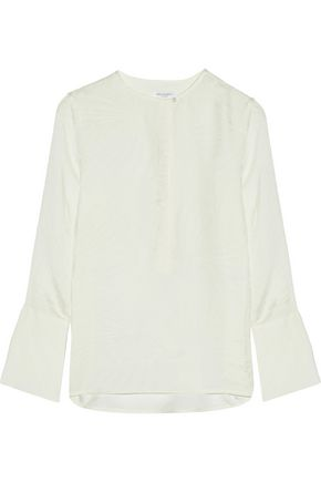 EQUIPMENT Kenley washed silk-jacquard blouse