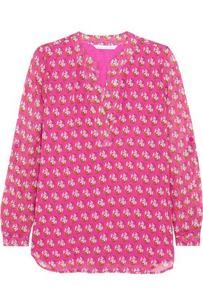 DIANE VON FURSTENBERG Esti printed silk-chiffon blouse