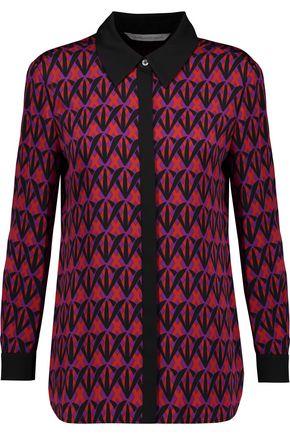 DIANE VON FURSTENBERG Ilyssa printed silk-blend blouse