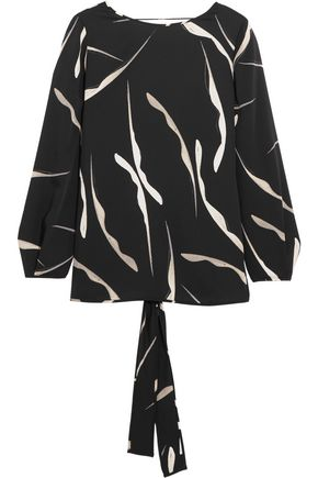 DIANE VON FURSTENBERG Evvy open-back printed stretch-silk top