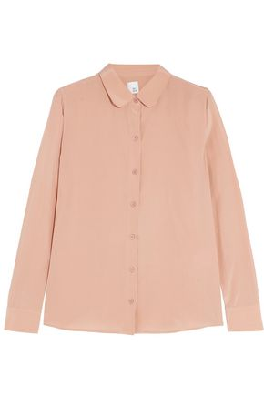IRIS & INK Ella washed-silk shirt