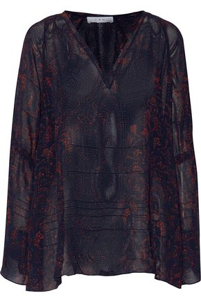 IRO Aga printed voile top