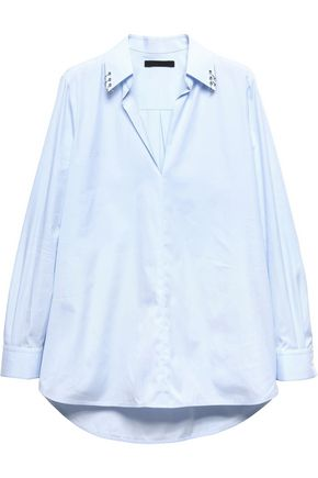 ALEXANDER WANG Embellished cotton shirt