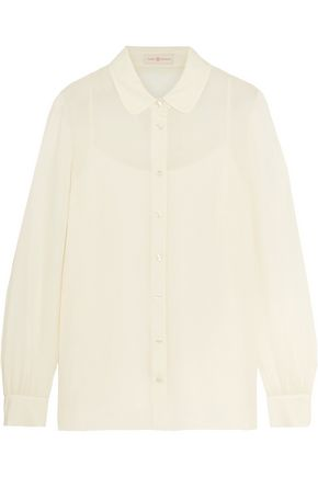 TORY BURCH Deborah silk-georgette shirt
