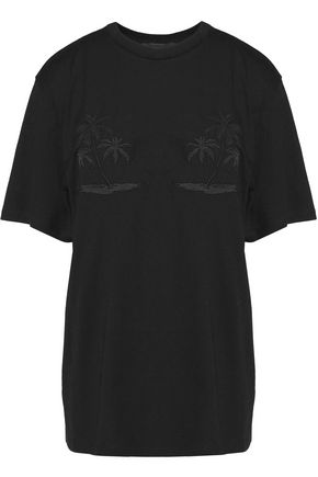 ALEXANDER WANG Embroidered cotton T-shirt