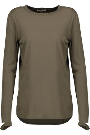 HELMUT LANG Cutout cotton and cashmere-blend top