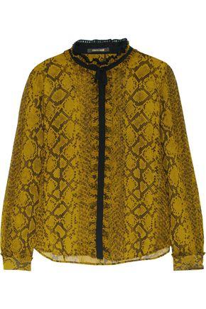ROBERTO CAVALLI Snake-print silk-chiffon blouse