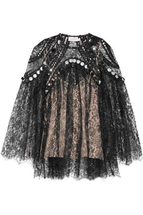 ZIMMERMANN Lavish sequin-embellished lace top